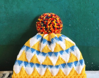 Festival by the Sea Detachable Pom Pom Beanie Hat | for men | for women | colorful & cozy | handmade customized gift