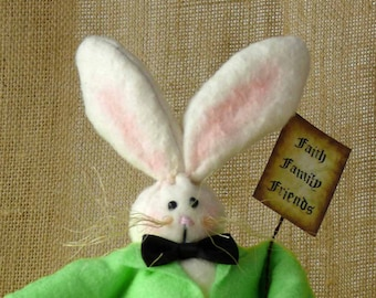Faithful Friends Easter Bunny Rabbit Spring Decoration