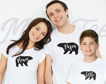 Family matching shirt family matching outfits couple shirts family bear shirts mama bear shirt papa bear shirt baby bear shirt family shirts