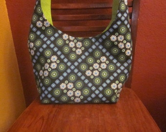 Tote and Wallet - Canvas Mini flowers
