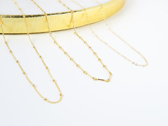 Gold Chain | Gold Necklace | Layering Necklace | Dainty Necklace | Minimalist Necklace | Simple Necklace | Gift for Her | Gift for Mom