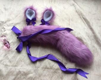 Kitten play set Tail Ears Looped Plug *mature*