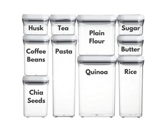 Kitchen / Container labels (set of 24)