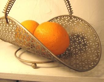 vintage basket industrial metal