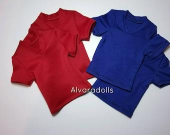 SD17 Blue V-neck T-shirt