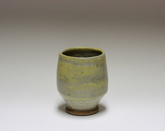 Ash Glazed Salt Fired Whiskey Sipper Cup