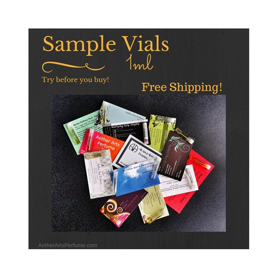 Samples Vials 1ml Full Vial Perfume Oil A great way to try before you buy SAMPLE ONLY orders within the USA are shipped free!