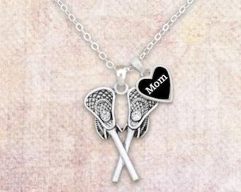 Lacrosse Mom Rhinestone Necklace