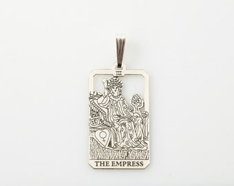 III Empress Tarot Pendant in Sterling Silver