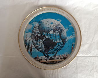 New York World's Fair 1964-1965 Serving Tray Unisphere