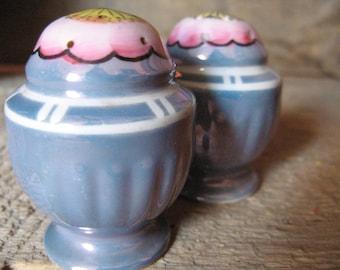 Vintage Lusterware Salt and Pepper Shakers
