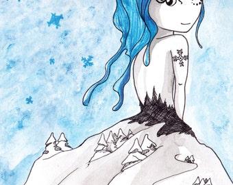 Snow queen Card