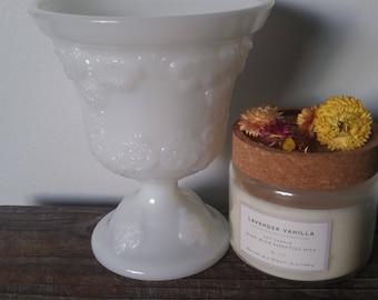 Vintage E.O. Brody Milkglass Urn