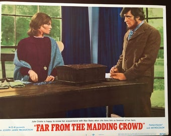 Lobby card from Far From the Madding Crowd, Bates/Christie, table.