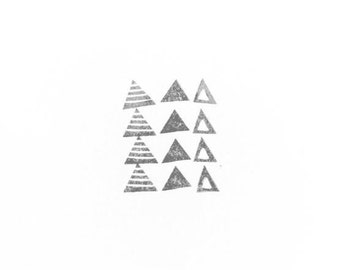 Texture Rubber Stamp: Little Triangles | 026147