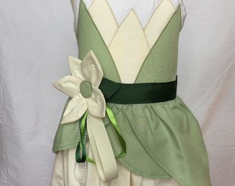 Tiana from the Princess and the Frog-inspired Tank Top Dress, size 2, 3, 4 and 5 (ages 2-3, 3-4, 4-5, 5-6)