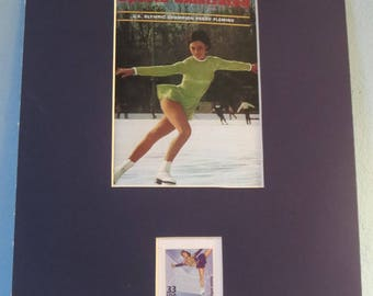 Peggy Fleming wins the 1968 Olympic Gold Medal for figure skating  honored by the  Figure Skating stamp