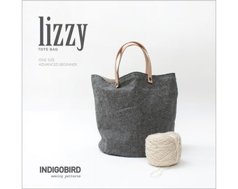 PATTERN, Tote bag, bucket bag pattern, Sewing pattern, knitting bag, project bag, PDF bag pattern, bucket tote bag