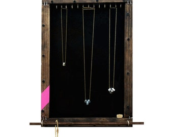 Jewelry Organizer Display // Necklaces, Bracelets, Rings, Sunglasses Storage Holder // Jewelry Wall Hooks // Eco-Friendly Reclaimed // Gift