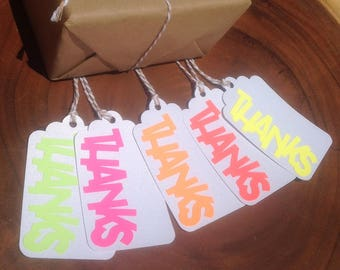 "NEON ""Thanks"" Favor Tags"