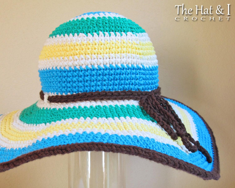 Crochet pattern poolside crochet sun hat pattern summer hat this is a digital file dt1010fo