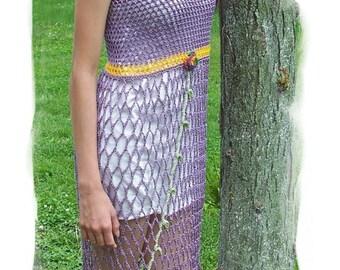 Summer Sun Dress, Crochet Pattern in PDF