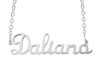 Personalized Name Necklace 925 Sterling Silver Name Necklace