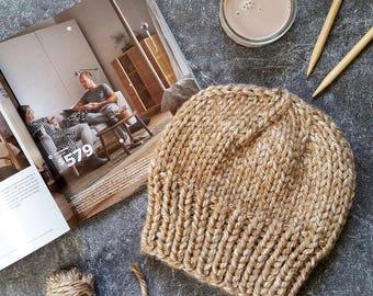 Knit Hat Pattern, Knitting Pattern Hat, Chunky Knit Hat Pattern, Chunky Hat, Slouchy Hat Patterns, Knit Beanie Pattern, Chunky Knit Patterns