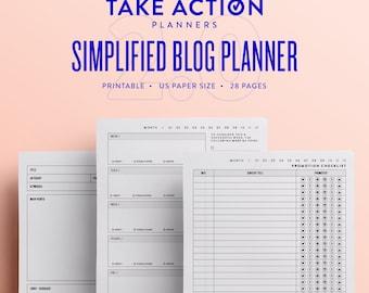 Simplified Blog Planner 2.0 / US Printable