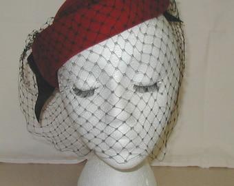 Vintage Importina Red Felt Ladies hat