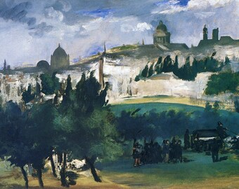 Edouard Manet: The Burial (The Funeral) Fine Art Print/Poster (00686)