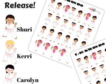 Tae Kwon Do Stickers Martial Arts Stickers Girl Stickers