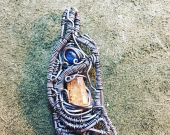 Kyanite and Imperial topaz