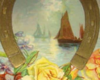 SALE Vintage Postcard, Floral,Sceanic # 2
