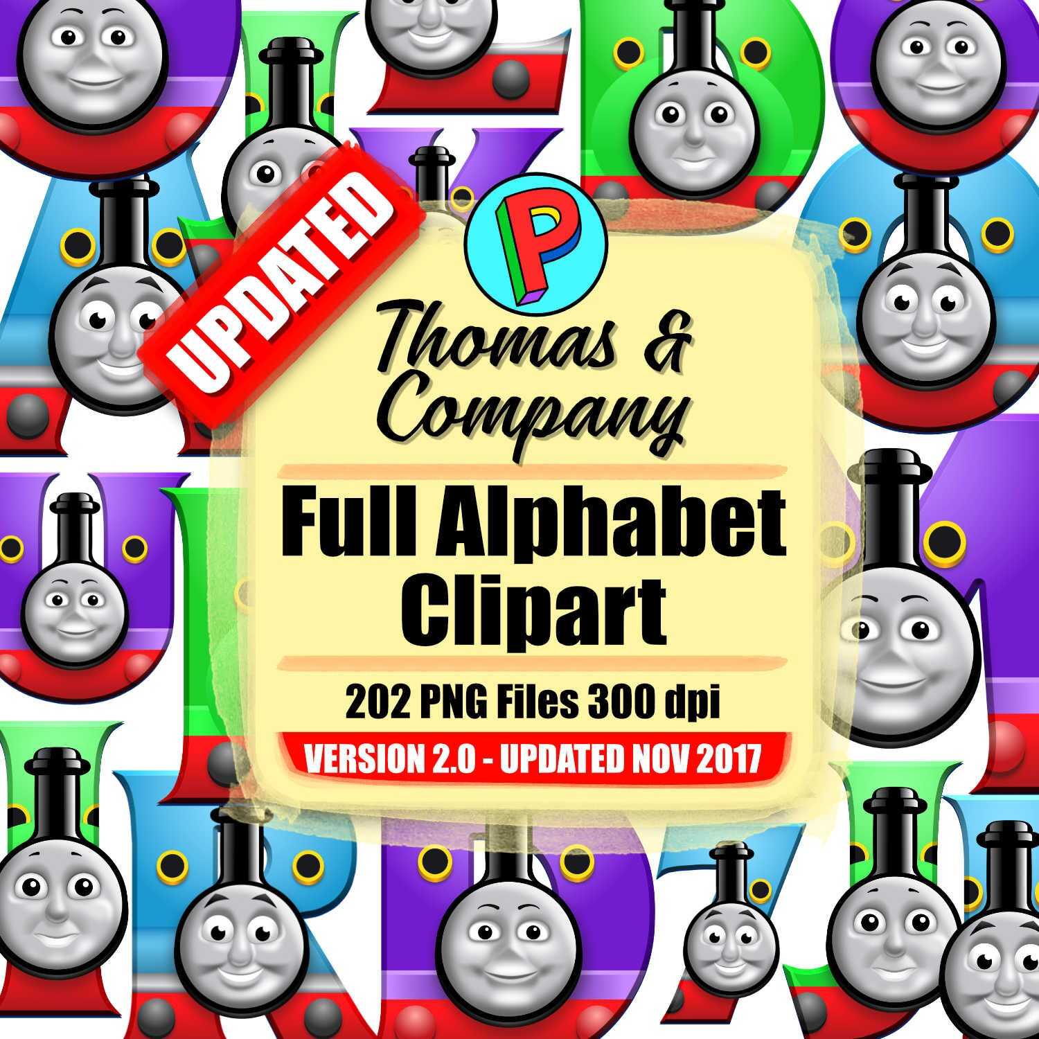 Thomas and Company Full Alphabet Clipart 202 png files 300