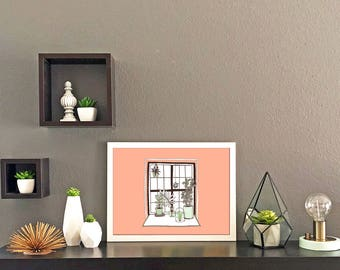 Plant Window Print