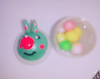 green pink nose rabbit&Monster twinkle Slime