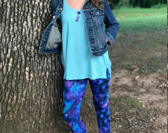 Girls leggings - girls galaxy leggings - leggings for girls - baby leggings - leggings for toddlers - toddler leggings