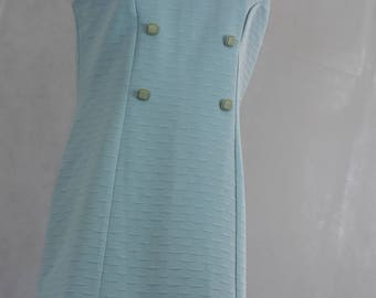 Pale Blue 1960s Shift Dress