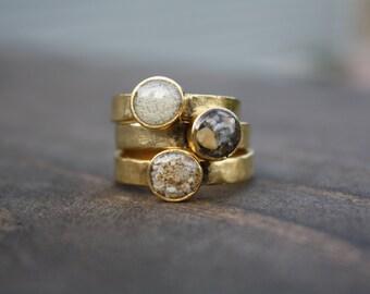 Custom Sand stacking rings