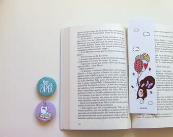 Squirrel on a balloon  - Squirrel Bookmark Collection