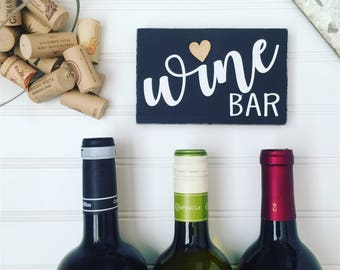 Gifts for Her, Gifts Under 15, Gifts for Wine Lover, Wine Bar Sign, Wood Sign, Wine Gift, Birthday Gift, Kitchen Decor