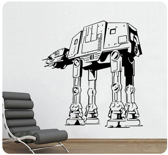 star wars wall decals wars atat at at wall decal sticker sci fi decor 30090