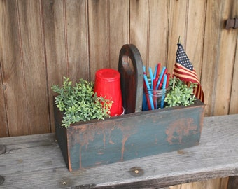 Hand-Painted Cutlery Box