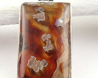 AGATE tubular jewelry jewelry pendant natural chakra esotericism protection healing minerals VK52 care