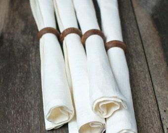 white linen napkins - white napkins bundle - white wedding decor - white cloth napkins - linen napkins set - white table napkins