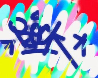 Modern graffiti painting