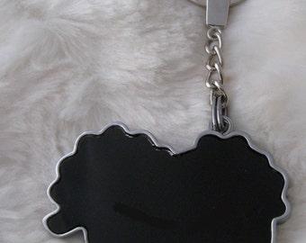 Sheep Keychain Silver x 1