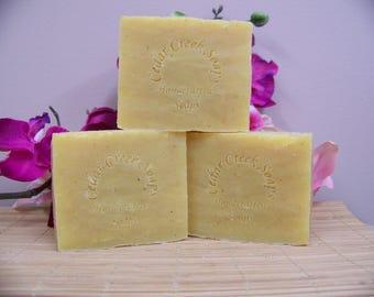 Basil Lime Rosemary Soap Goat Milk Soap Handmade Soap Cold Processed Soap Vegan Soap