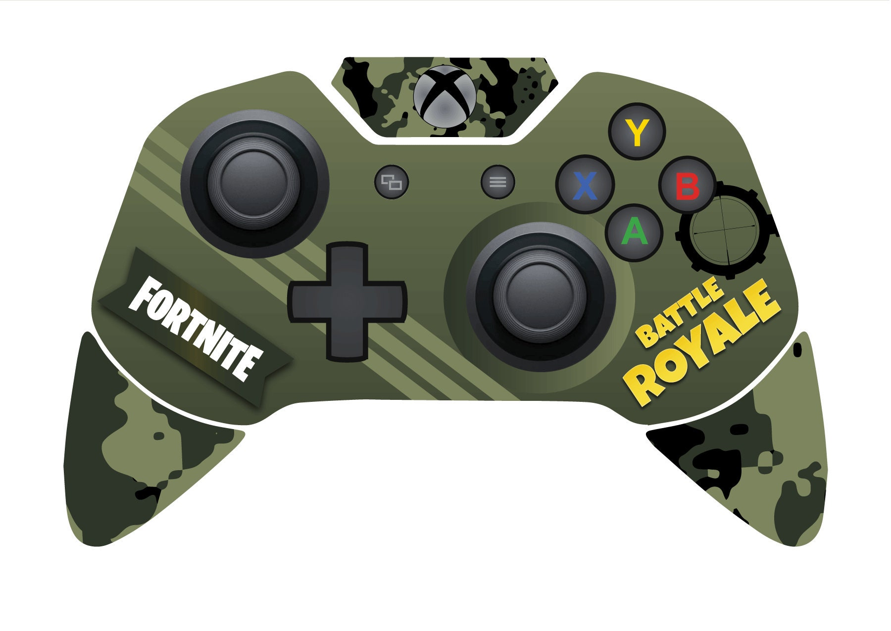 Battle Royale Xbox One Controller Skin Inspired By Fortnite